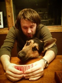 dog play cribbage
